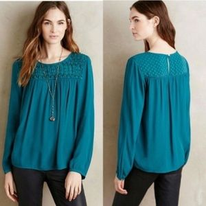 Anthro Meadow Rue Vivie Blouse Size Large
